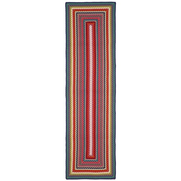 Safavieh Braided Contemporary Hand-Woven Multi Runner Rug (2' 3 x 8')