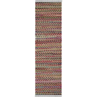 Safavieh Cape Cod Coastal Hand-Woven Natural/ Multi Jute Runner Rug (2' 3 x 8')