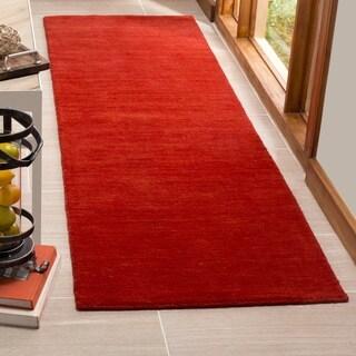 Safavieh Hand-Woven Himalaya Red Wool Runner (2' 3 x 8')