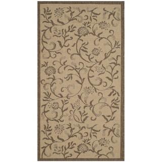 Safavieh Martha Stewart Collection Indoor / Outdoor Cream / Brown Runner (2' 7 x 5')
