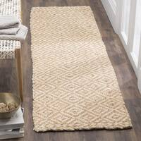 Safavieh Natural Fiber Contemporary Handmade Ivory / Natural Jute Runner - 2'3 x 8'
