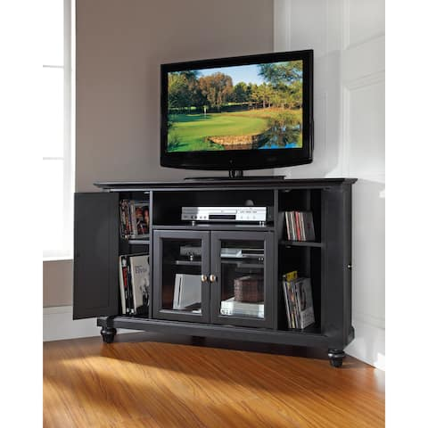 Cambridge Black Finish 48-inch Corner TV Stand