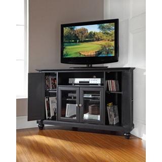 Crosley Furniture Cambridge Black Finish 48-inch Corner TV Stand