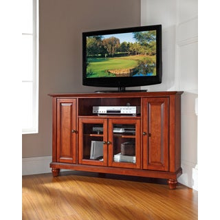 Crosley Furniture Cambridge Cherry-finished Wood 48-inch Corner TV Stand