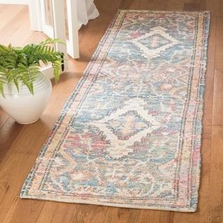 Safavieh Safran Handmade Blue/ Orange Cotton Runner Rug (2' 3 x 8')