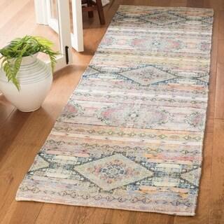 Safavieh Safran Handmade Multi Cotton Runner Rug (2' 3 x 8')