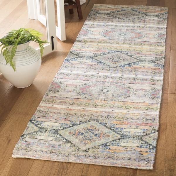 Safavieh Safran Handmade Multi Cotton Runner Rug - 2' 3 x 8'