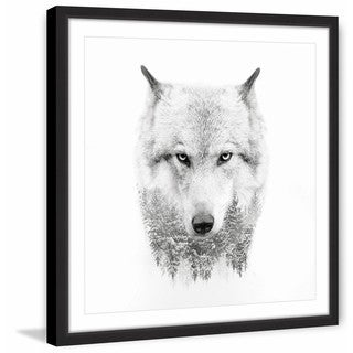 Wolf Spirit' Framed Painting Print
