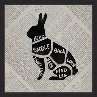 Rabbit Cuts' Framed Painting Print