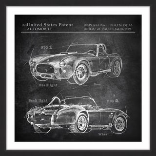 1965 Shelby Cobra' Framed Painting Print