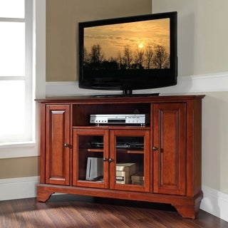 Lafayette Classic Cherry Finish 48-inch Corner TV Stand