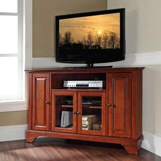 Lafayette Classic Cherry Finish 48-inch Corner TV Stand