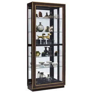 Finley Wood/Glass Sliding Door Curio