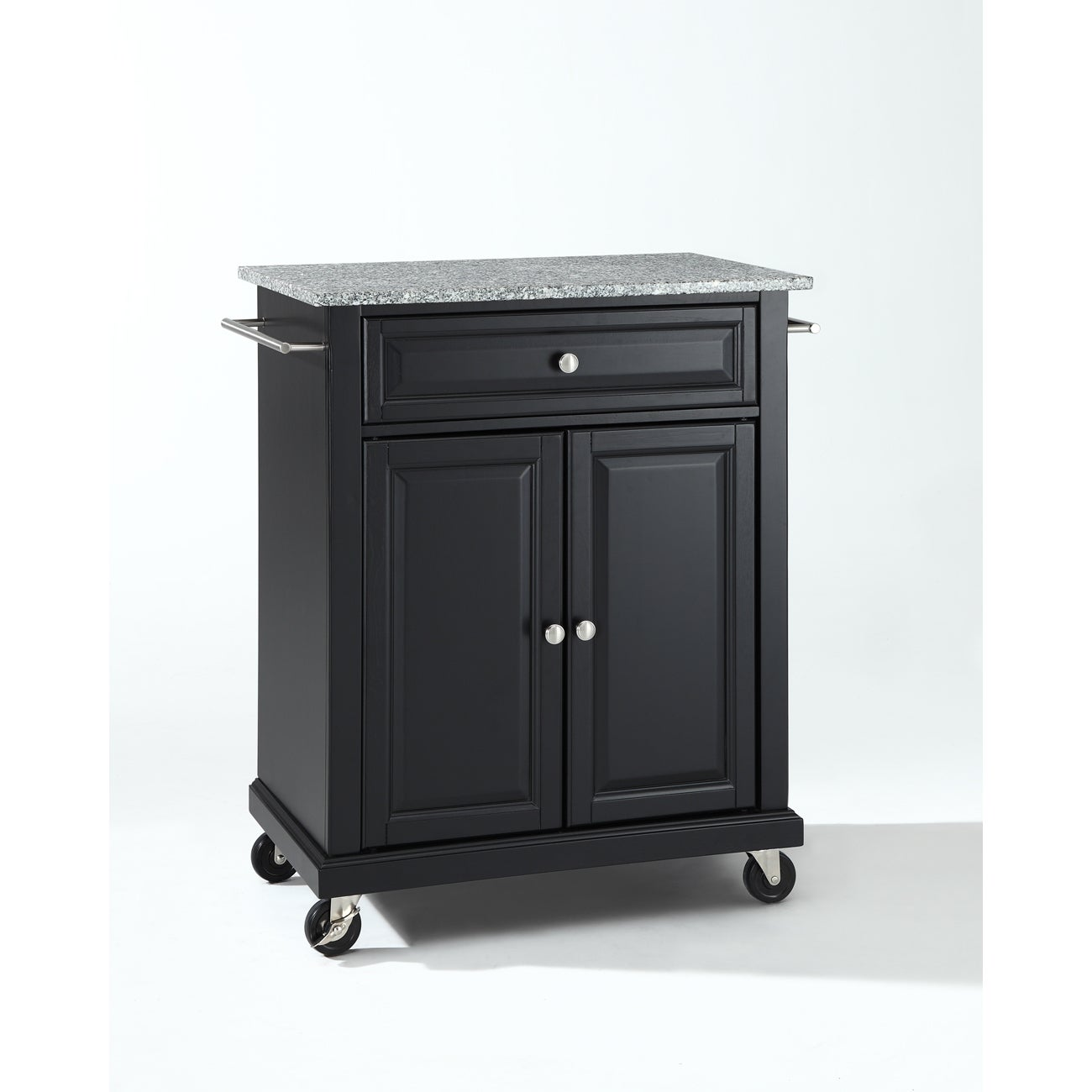 Shop Simple Living Rolling Galvin Microwave Cart: Shop Solid Granite Top Portable Kitchen Cart/Island In