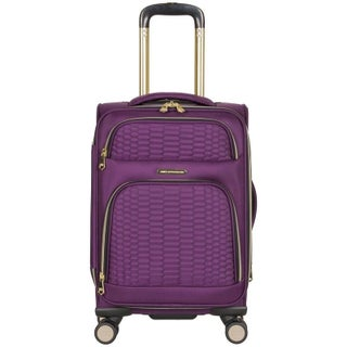 """Aimee Kestenberg """"Florence"""" 20-inch Lightweight Softside Expandable 8-Wheel Spinner Carry-On Suitcase"""