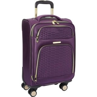 "Aimee Kestenberg ""Florence"" 20-inch Lightweight Softside Expandable 8-Wheel Spinner Carry-On Suitcase"