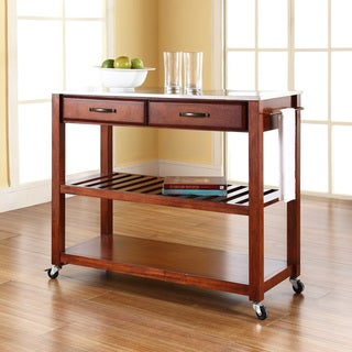 Crosley Furniture Cherry-finish Wood Kitchen Cart/Island