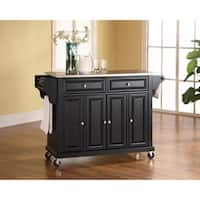 Crosley Furniture Black Finish Stainless Steel Top Kitchen Cart/Island