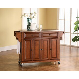 Stainless Steel Top Classic Cherry Finish Kitchen Cart/Island