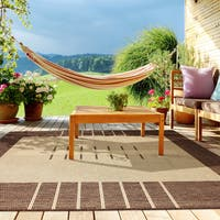 Havana Brown Flat-weave Indoor/Outdoor Area Rug (5' 3  x 7' 5)