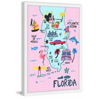 'Merry Florida' Framed Painting Print