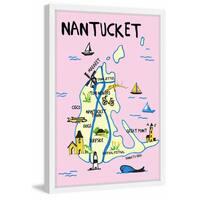 'Nantucket Landmarks' Framed Painting Print