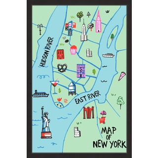 'River of NY II' Framed Painting Print