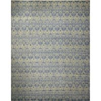 Noori Rug Fine Oushak Azamat Blue/Grey Rug - 12'4 x 15'1