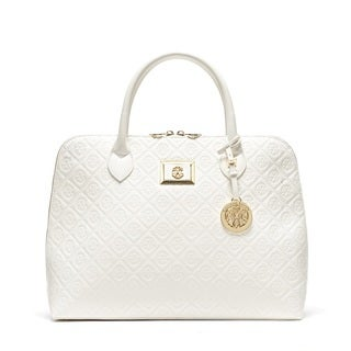 CXL by Christian LaCroix Sylvia Embossed Dome Satchel Handbag