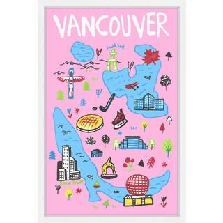 'Vancouver Landmarks' Framed Painting Print