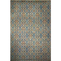 Fine Oushak Walter Blue/Brown Rug (12'0 x 17'10)