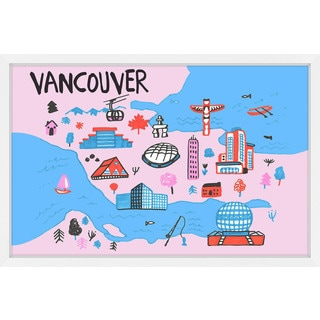 'Vancouver Architecture - Pink' Framed Painting Print