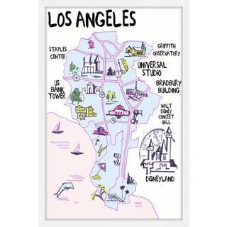'Sun & Fun Los Angeles' Framed Painting Print