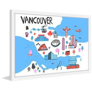 'Vancouver Architecture' Framed Painting Print