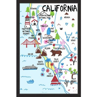 'Diverse California' Framed Painting Print
