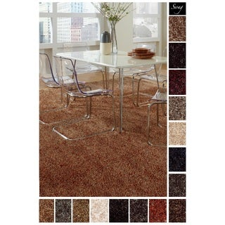 Shaw Solid-colored Shag Square Area Rug (12' x 12')