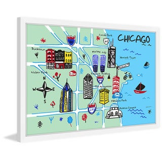 'Chicago Architecture' Framed Painting Print