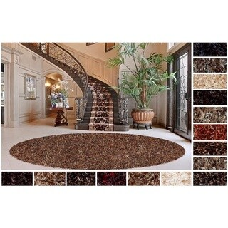 Shaw Swag Luxury Multicolor Shag Area Rug (12' Round) - 11'9 x 11'9