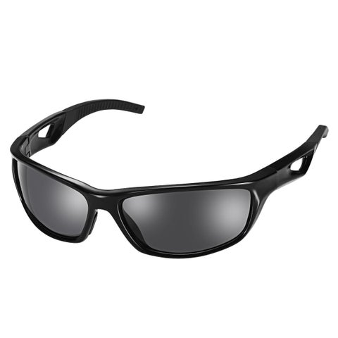Coutlet Black Polarized Sports Sunglasses with TR90 Unbreakable Frame for Skiing, Driving Golf, Running, Cycling