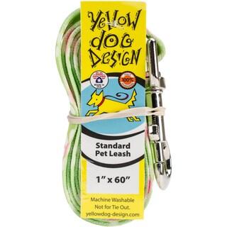 Yellow Dog Lead - Green Daisy