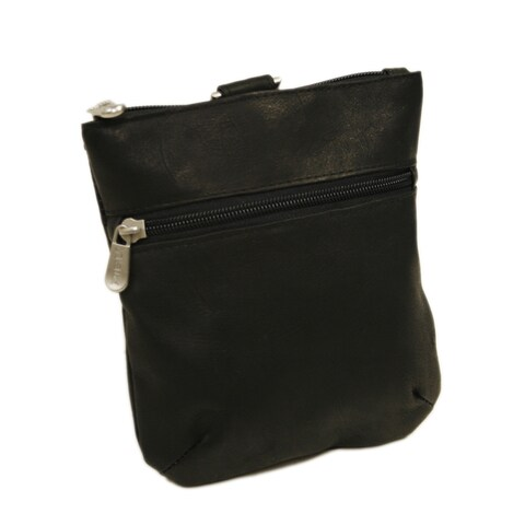 Piel Leather Zippered Valuable Pouch