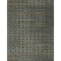 Transitional Bohemian Grey/ Blue Rug - 12' x 15'