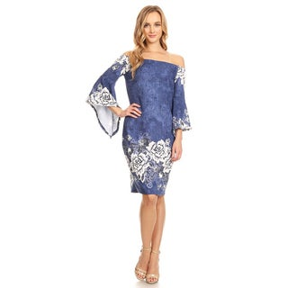 Women's Mixed Abstract Floral Dress