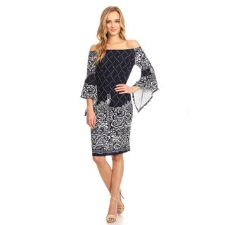 Women's Mixed Paisley Floral Dress