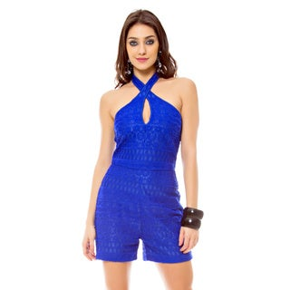 Sara Boo Keyhole Lace Romper (4 options available)