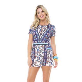 Sara Boo Blue Floral Boho Romper (4 options available)