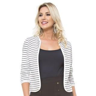 Sara Boo Striped Reversible Blazer