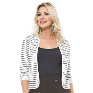 Sara Boo Striped Reversible Blazer