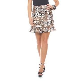 Sara Boo Animal Print A-Line Skirt