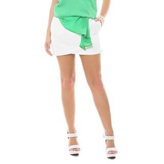 Sara Boo White Mini Wrap Skirt